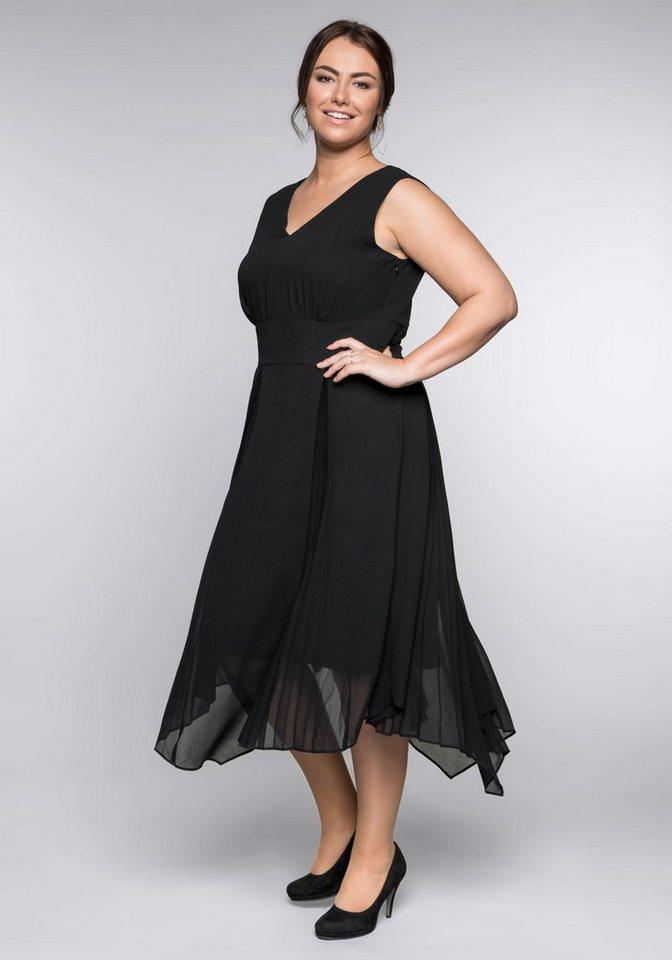 d32365d495c508 sheego Style Abendkleid Rockteil in Plissee-Falten gelegt online ...
