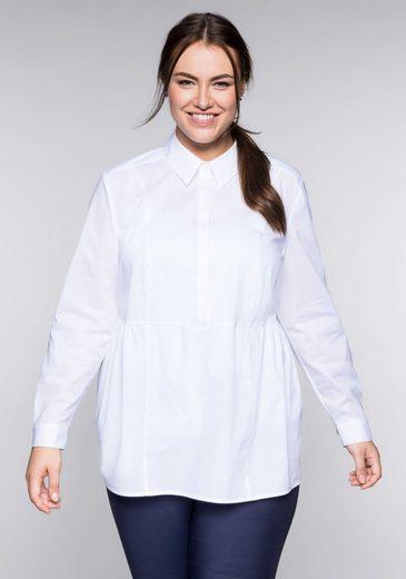 Sheego Tunika in A-Linie mit Hemdkragen