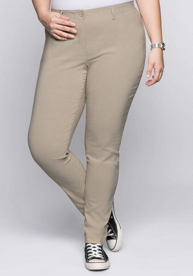 sheego Basic Anzughose knitterarm und pflegeleicht   Bekleidung > Hosen > Anzughosen   Braun   sheego Basic