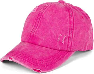styleBREAKER Baseball Cap »Ponytail Baseball Cap Used Look« Ponytail Baseball Cap Used Look