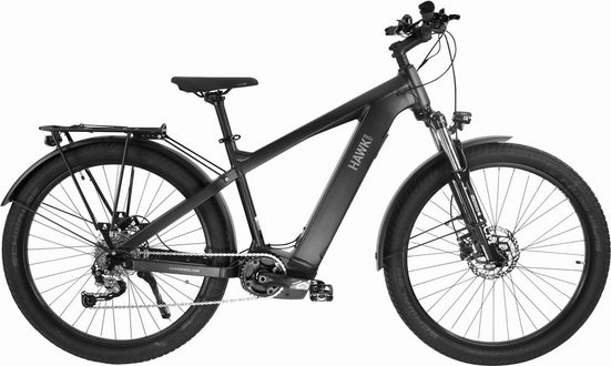 HAWK Bikes E-Bike »HAWK E-Urban SUV«, 9 Gang Shimano Alivio Schaltwerk, Mittelmotor 250 W