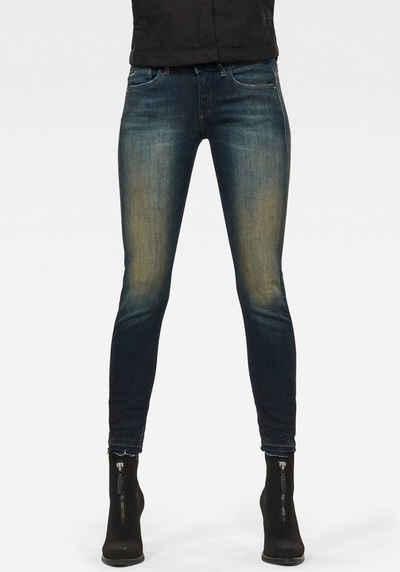 G-Star RAW Skinny-fit-Jeans »Lynn Mid Skinny rp Ankle« mit leicht ausgefranster Kante am Saumabschluss