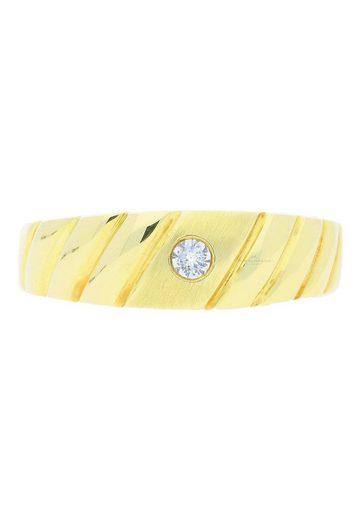 JuwelmaLux Goldring »Ring Gold Herren mit Diamant(en)« (1-tlg), Gold 585/000, inkl. Schmuckschachtel