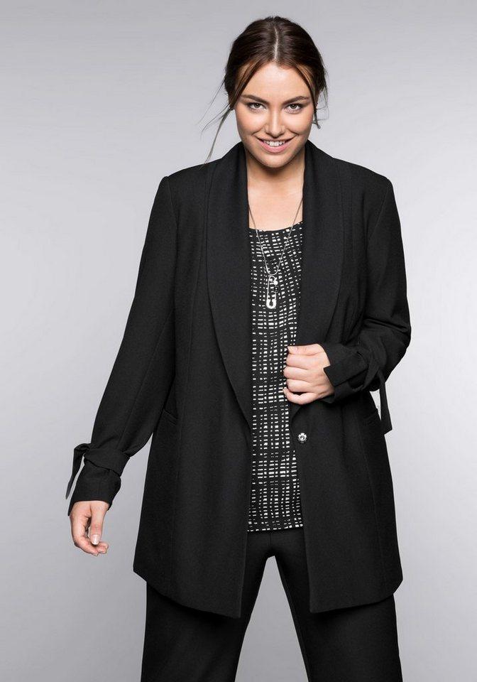 sheego Style Longblazer   Bekleidung > Blazer > Longblazer   Schwarz   sheego Style