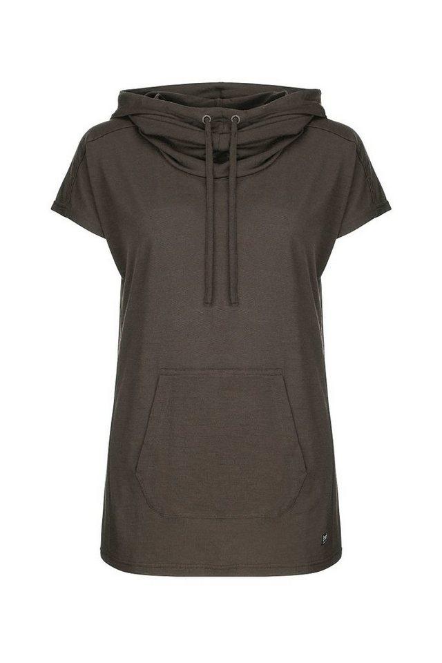 SUPER.NATURAL Kapuzenshirt »W FUNNEL TEE« | Bekleidung > Shirts > Kapuzenshirts | Braun | Jersey - Wolle - Polyester | SUPER.NATURAL