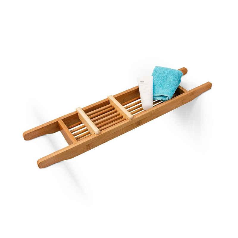 relaxdays Badewannenablage »Badewannenablage 69 x 14 cm Bambus«