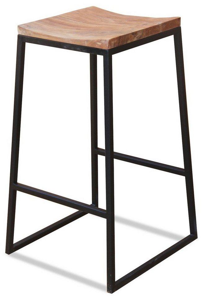 KAWOLA Barhocker aus Holz Metall INDI braun | 04250385990090