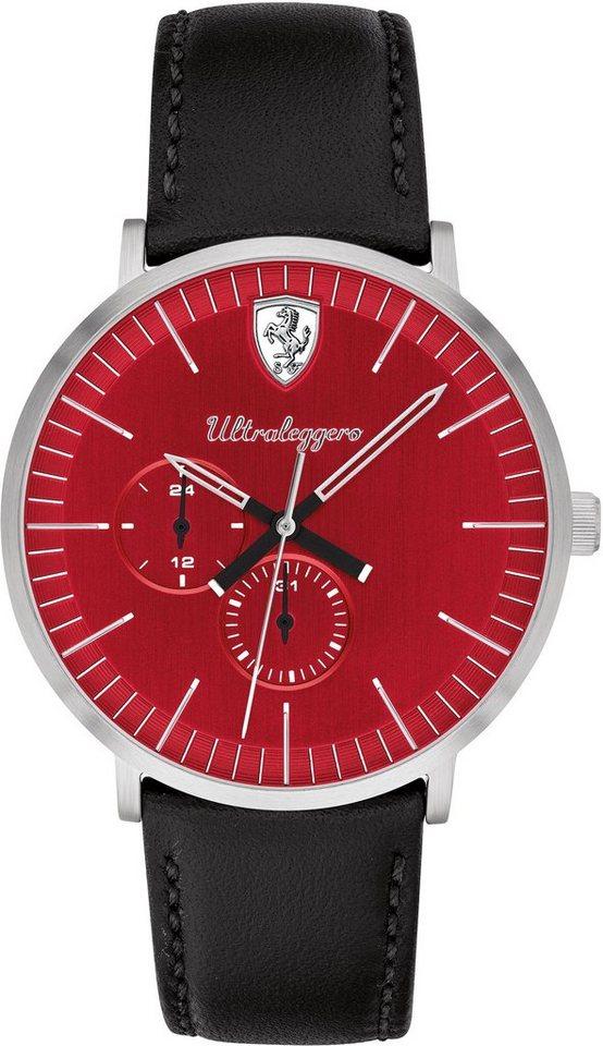 Scuderia Ferrari Multifunktionsuhr »Ultraleggero, 830567«   Uhren > Multifunktionsuhren   Schwarz   Scuderia Ferrari