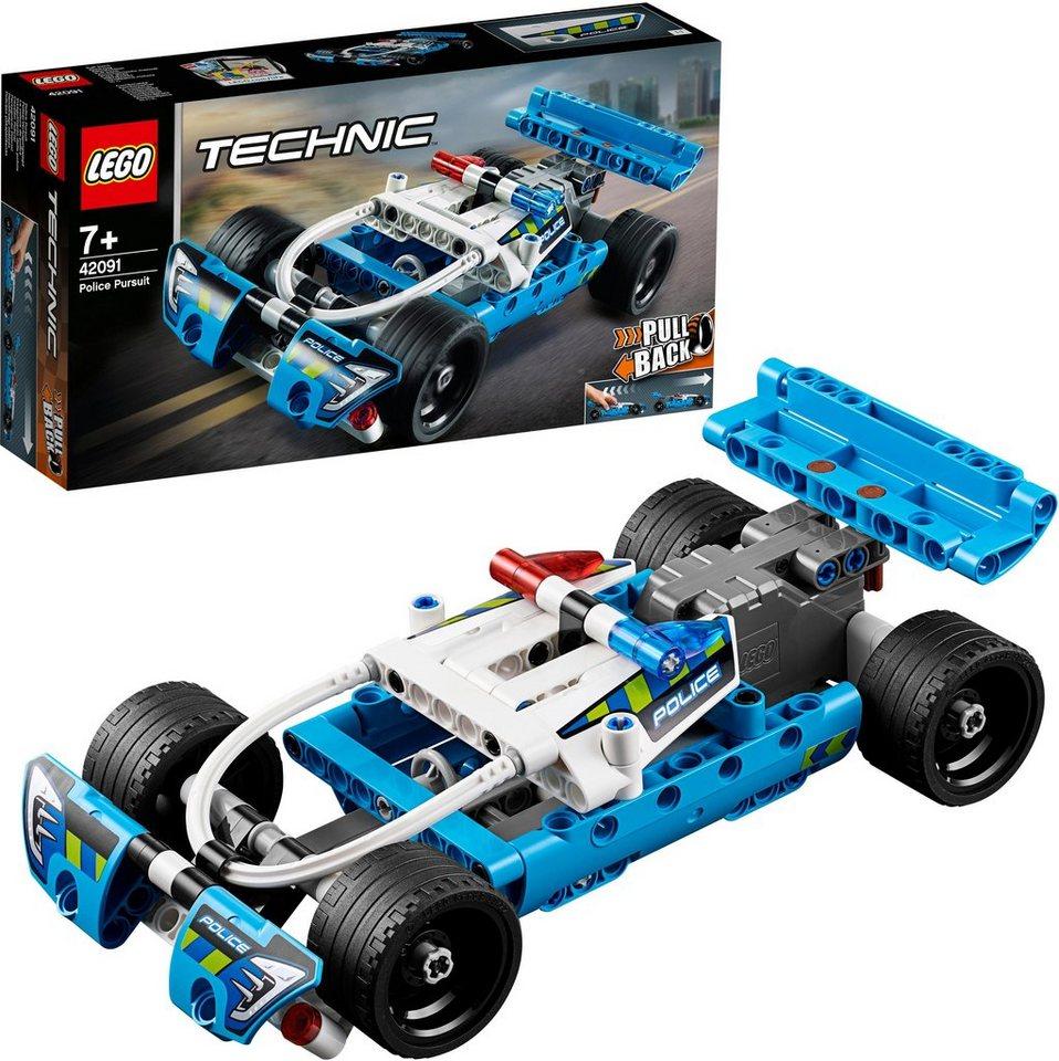Lego Konstruktionsspielsteine Polizei Verfolgungsjagd 42091