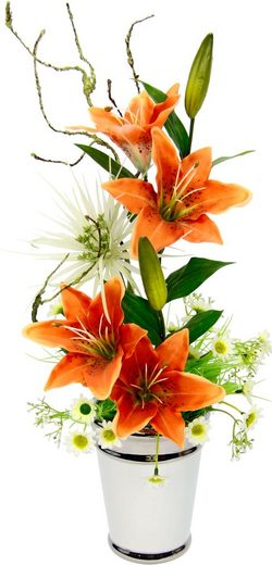 Kunstpflanze Lilien, I.GE.A., Höhe 53 cm