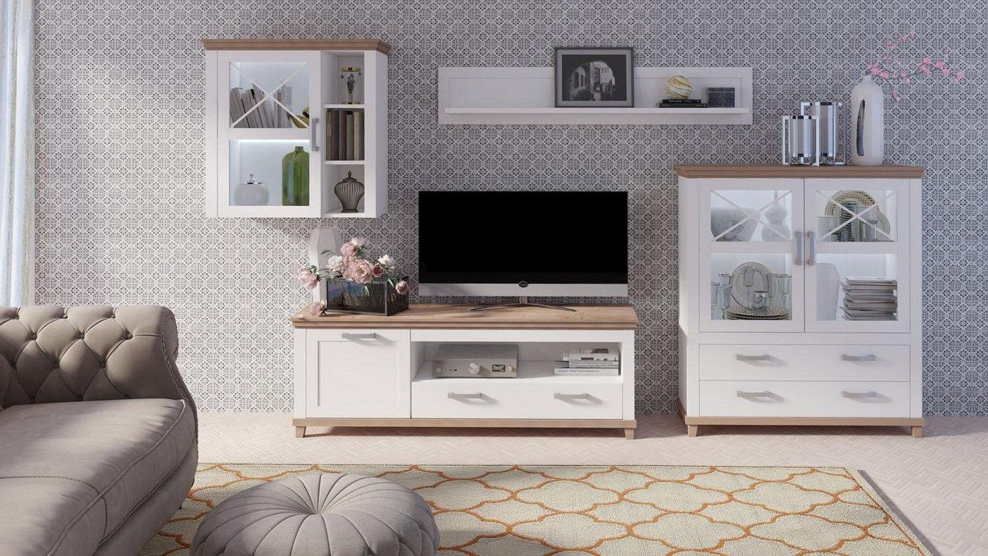 Wohnwände - TRENDMANUFAKTUR Wohnwand »Britta«, (Set, 4 tlg)  - Onlineshop OTTO