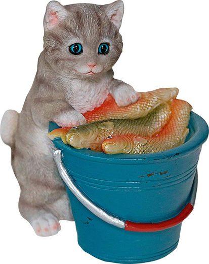 Home affaire Dekofigur »Katze am Eimer voller Fische«, stehend