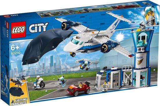 LEGO® Konstruktionsspielsteine »Polizei Fliegerstützpunkt (60210), LEGO® City«, (529 St)