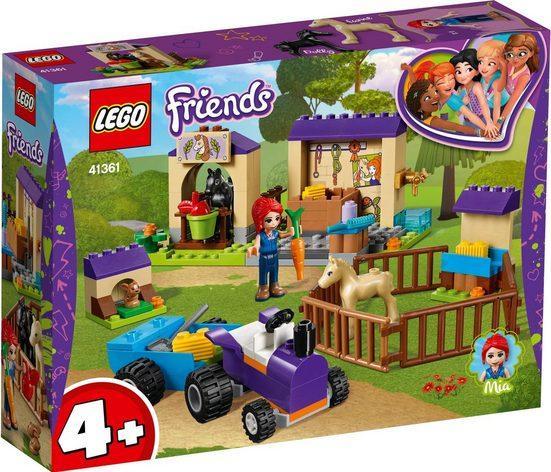 LEGO® Konstruktionsspielsteine »Mias Fohlenstall (41361), LEGO® Friends«, Kunststoff, (118 St)