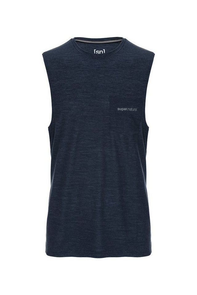 SUPER.NATURAL Tanktop »M MOVEMENT TANK« | Bekleidung > Shirts > Tank Tops | Blau | Jersey - Wolle - Polyester | SUPER.NATURAL