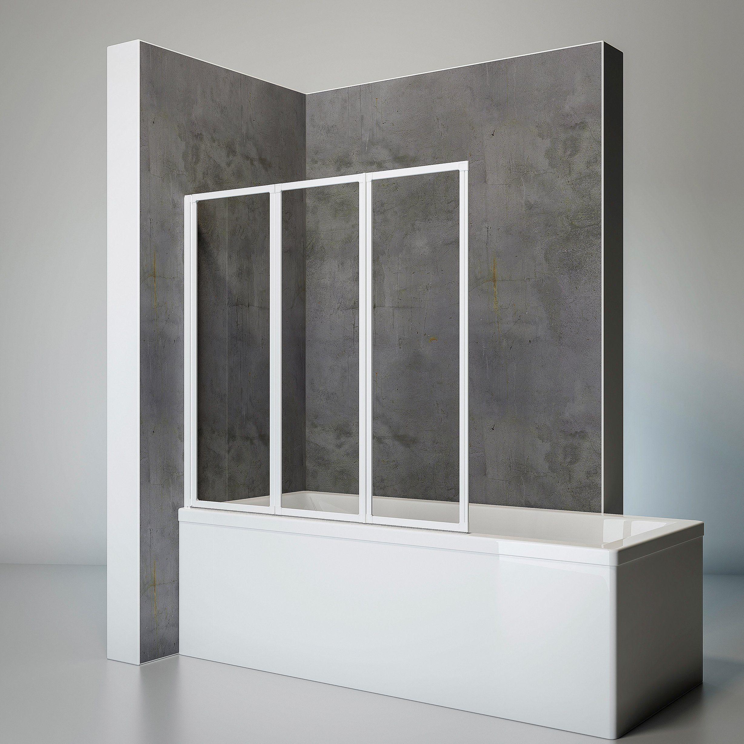 SCHULTE Komplett-Set: Badewannenfaltwand »Komfort«, 3-teilig, zum Kleben oder Bohren
