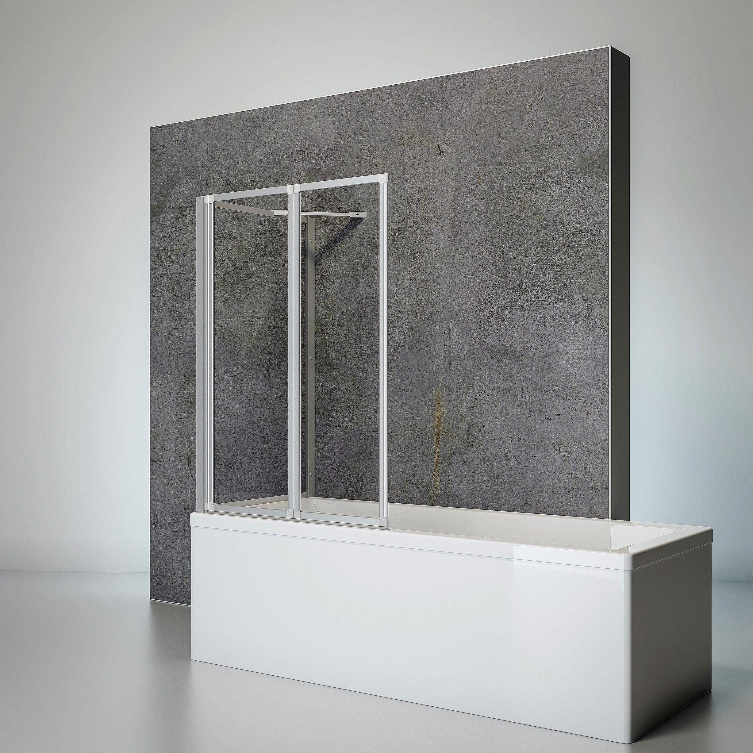 SCHULTE Komplett-Set: Badewannenfaltwand »Komfort«, 4-teilig, zum Kleben oder Bohren