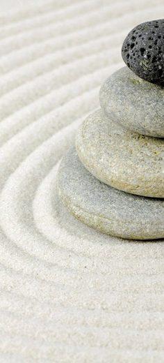 SCHULTE Duschrückwand »DecoDesign - Zen-Steine Sand«, 90 x 210 cm