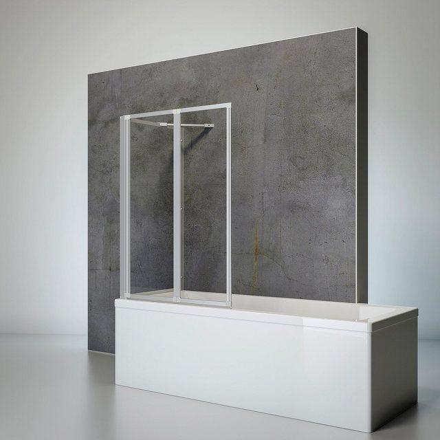 Badewannen und Whirlpools - SCHULTE Komplett Set Badewannenfaltwand »Komfort«, 2 teilig, zum Kleben oder Bohren  - Onlineshop OTTO