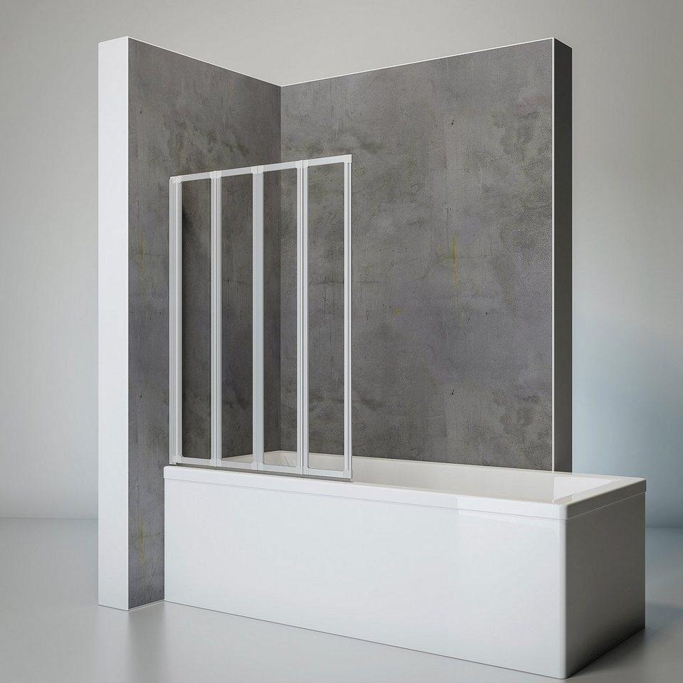 SCHULTE Komplett-Set: Badewannenfaltwand »Komfort«, 5-teilig, zum Kleben  oder Bohren online kaufen   OTTO