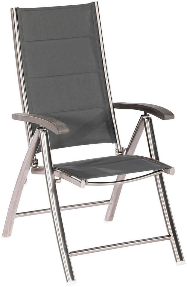 merxx gartenstuhl ferrara edelstahl textil akazie. Black Bedroom Furniture Sets. Home Design Ideas