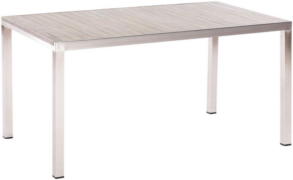 Merxx Gartentisch Keros Edelstahl Akazie 150x90 Cm Online Kaufen