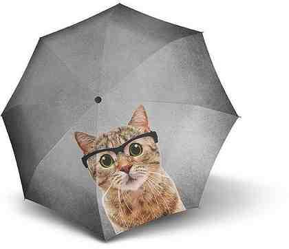 doppler® Taschenregenschirm »Crazy Cat«