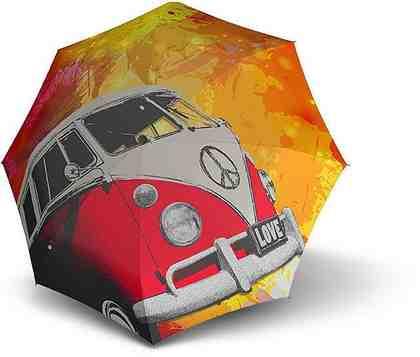 doppler® Taschenregenschirm »Retro Bus«