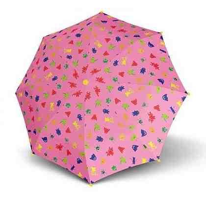 s.Oliver Regenschirm - Stockschirm für Kinder, »Monsters & Friends, Pink«