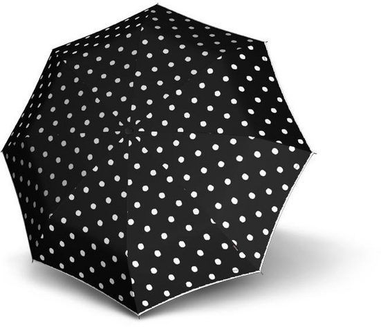 Knirps® Taschenregenschirm »T.200 Medium Duomatic, Dot Art Black«