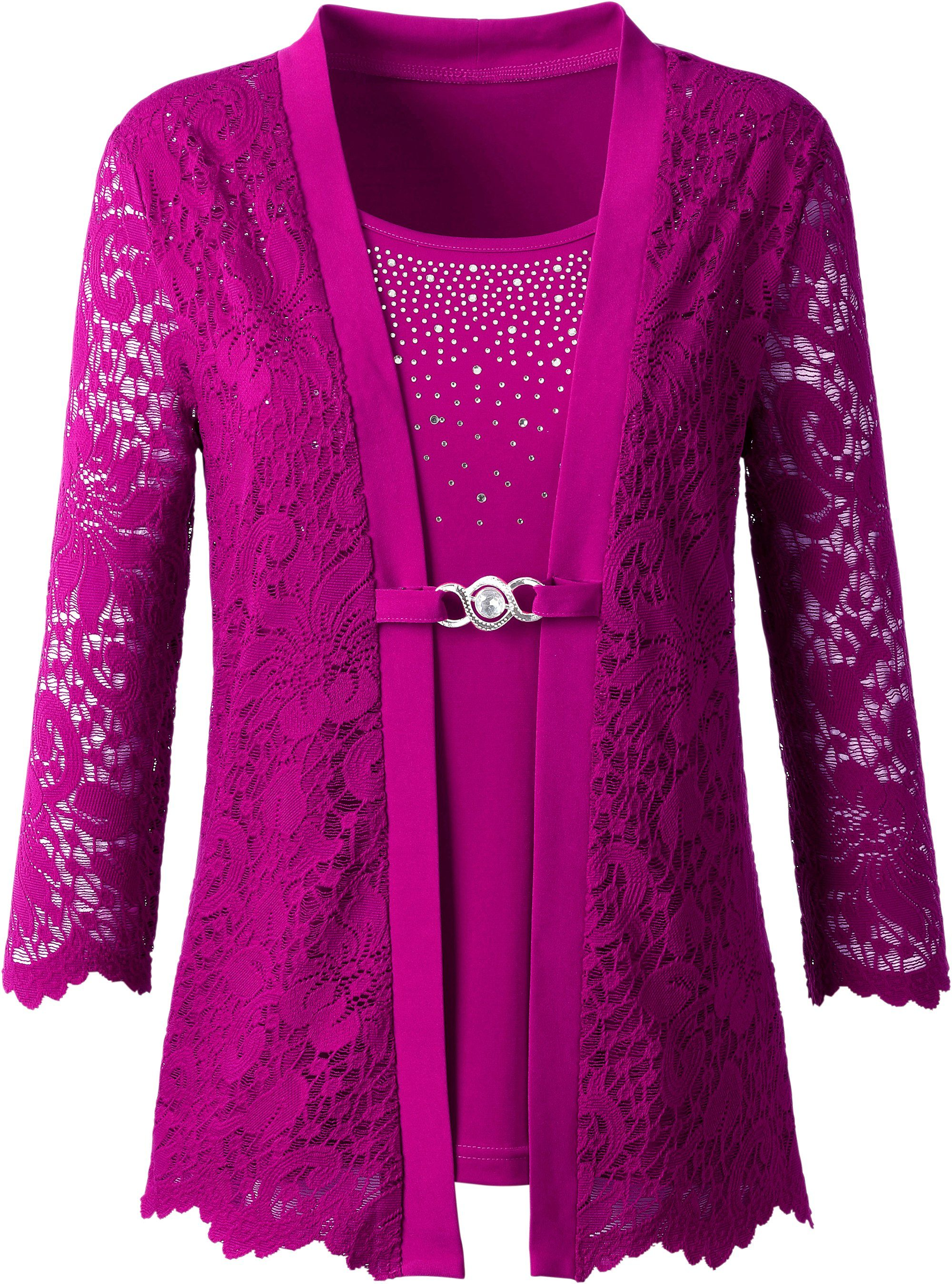 Lady Shirt in raffinierter 2-in-1-Optik