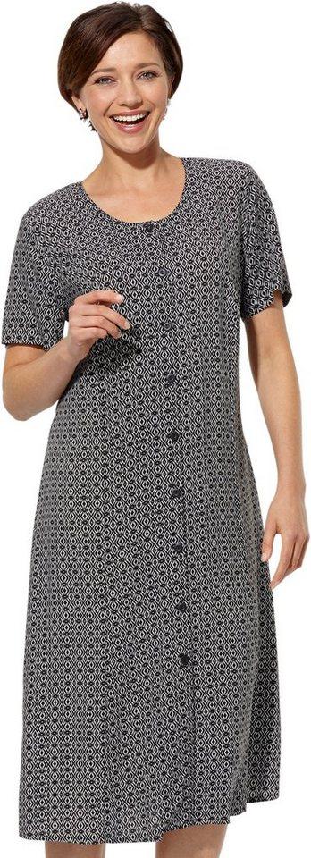 Damen Classic Basics Kleid mit Bindeband hinten zur Weitenregulierung schwarz | 08693458058420