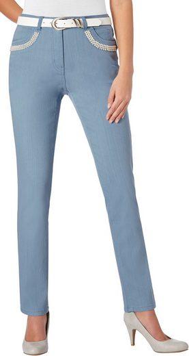 Lady Jeans mit Zierperlen