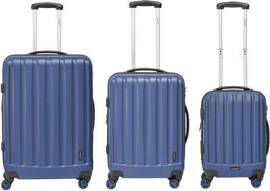 Packenger Trolleyset »Velvet«, 4 Rollen, (Set, 3 tlg)