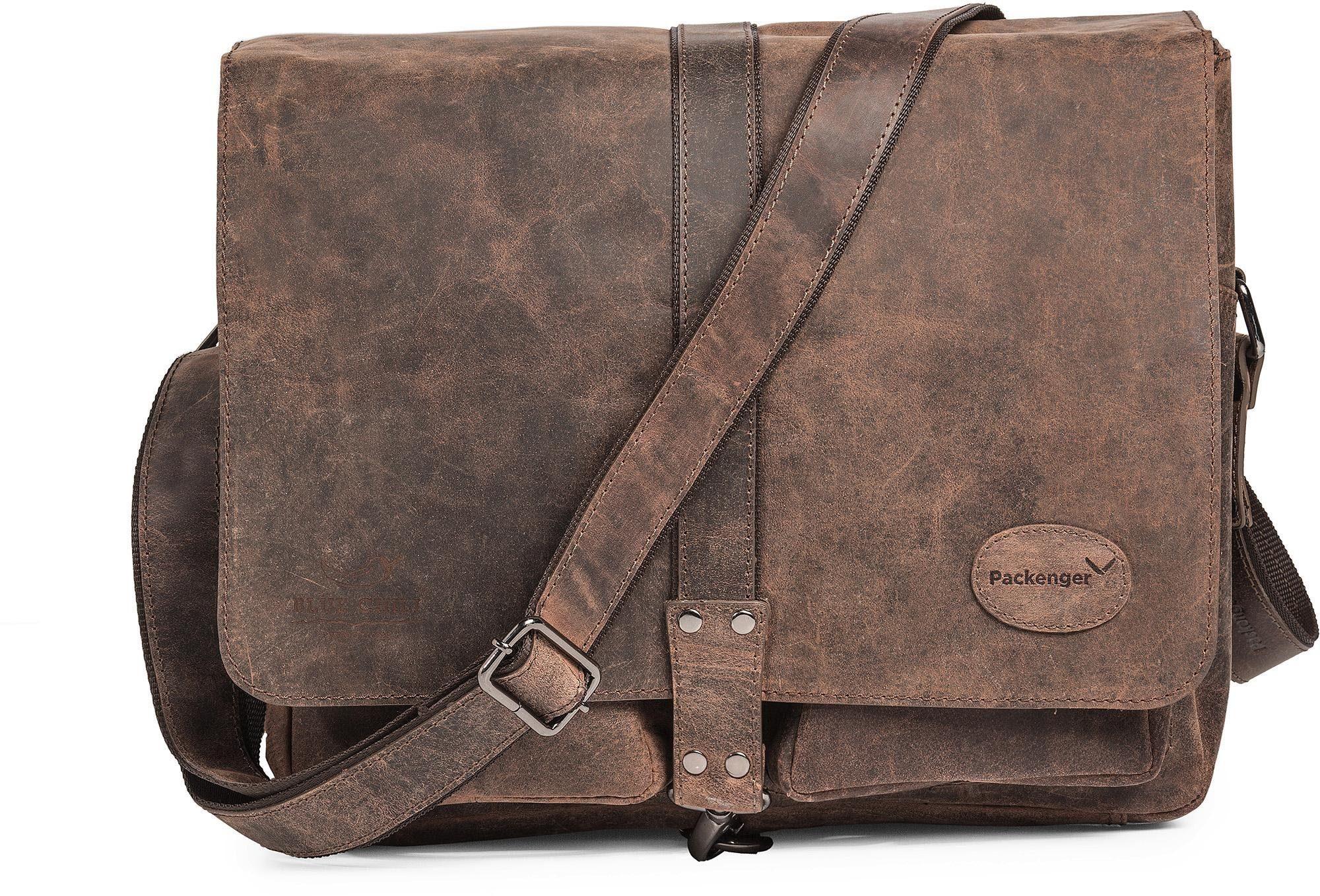 Packenger Messengerbag inkl. Geldbörse, »Haroi, Vintage Braun«