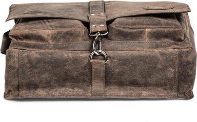 Braun« Messengerbag Packenger »haroi Inkl Geldbörse Vintage wqaax1O6Uz