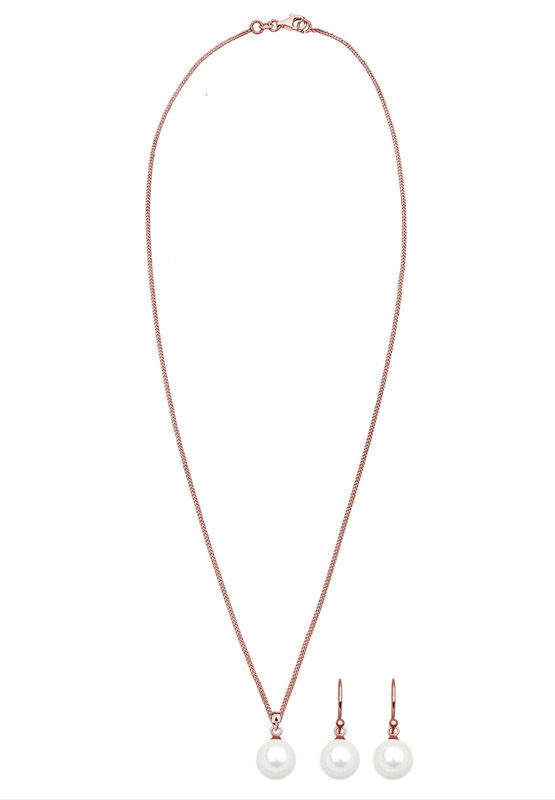 Elli Ohrring und Ketten Set Muschelkernperle 925 Sterling Silber Geschenkidee online kaufen oYH9G0
