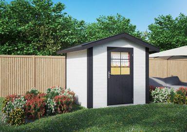 LUOMAN Gartenhaus »Lillevilla 572«, BxT: 272x252 cm, inkl. Aufbau und Fußboden