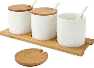 ROMINOX Vorratsdose »Tre Malva«, Porzellan, Bambus, (Set, 4-tlg), Servierschalen-Set