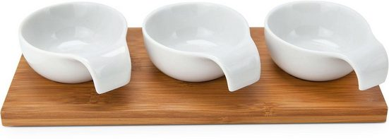 ROMINOX Servier-Set »Tre Bamboo«, Bambus, Keramik, (Set, 4-tlg)