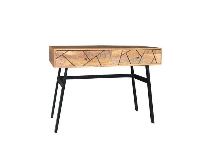 KAWOLA Konsolentisch mit Schubladen Massivholz »ARIA«