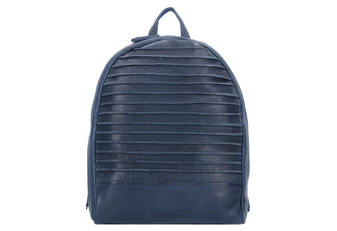 Damen FREDsBRUDER  Packgirl Rucksack Leder 32 cm blau | 04250813624344
