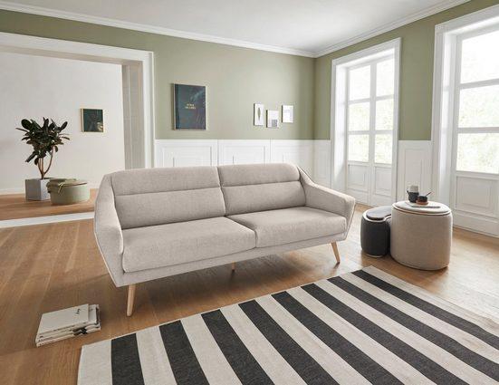 andas 3-Sitzer »Bille«, mit Naht im Rückenkissen und Eiche-Beinen, Design by Morten Georgsen