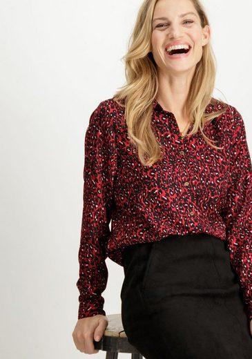 Garcia Klassische Bluse mit ausgfellenem Muster