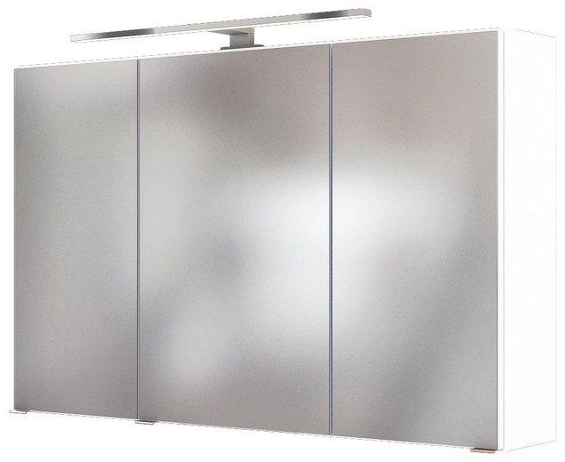 HELD MÖBEL Spiegelschrank »Baabe«, Breite: 100 cm, mit LED-Beleuchtung