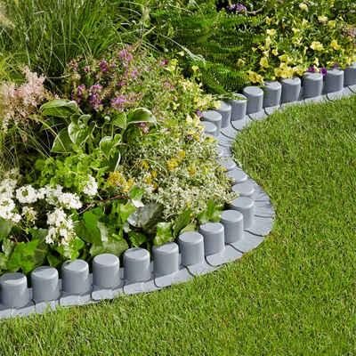 Set Rasenkante Flexible Lawn Edging LxH 440x6 18 Cm