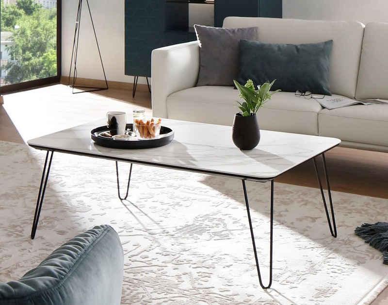 Villeroy & Boch Couchtisch »AMARA«, mit Keramiktischplatte und Haarnadelfuß