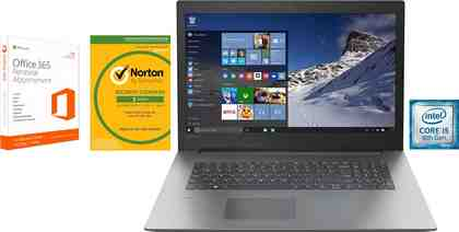 Lenovo Ideapad 330-17IKB Notebook (43,9 cm/17,3 Zoll, Intel Core i5, 1000 GB HDD, 128 GB SSD, inkl. 3 Jahren Garantie, Office 365 Personal und Norton Internet Security)