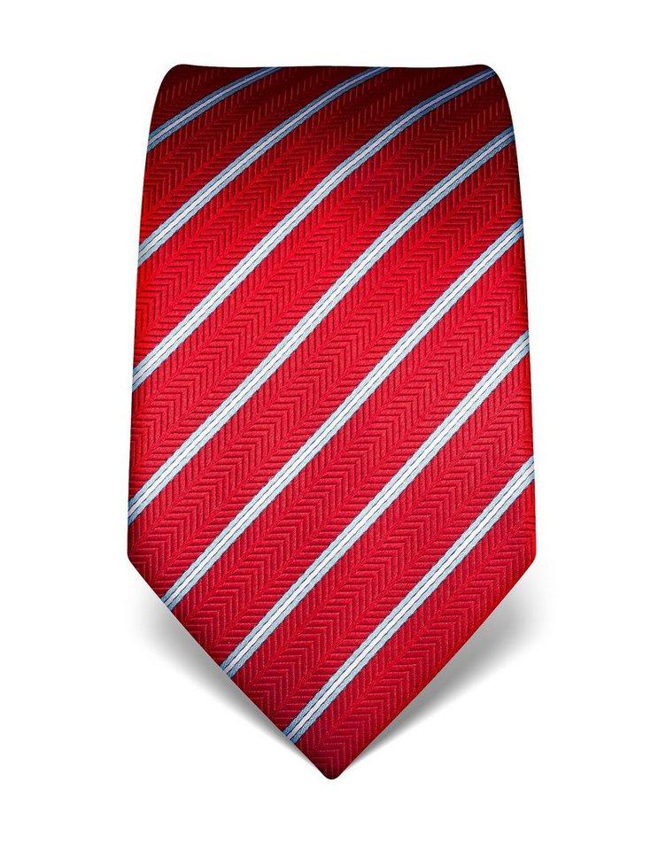 Vincenzo Boretti Schöne Krawatte aus Seide für Herren | Accessoires > Krawatten > Sonstige Krawatten | Rot | Seide | Vincenzo Boretti