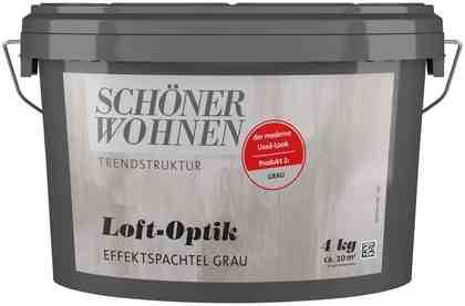 SCHÖNER WOHNEN FARBE Spachtelmasse »Loft-Optik Effektspachtel grau«, 4 kg